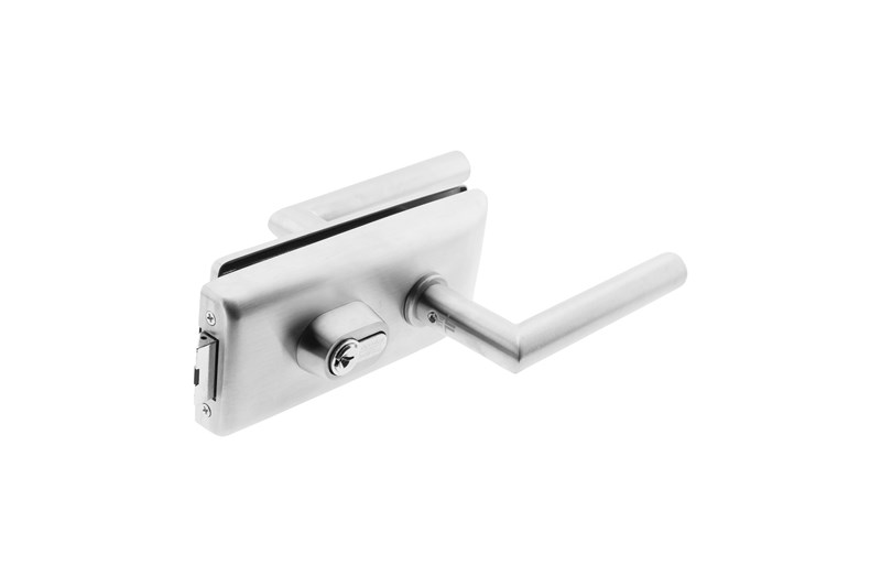 Locks for glass doors - central point
